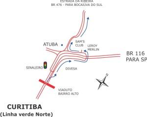 Mapa POUSADA detalhe atuba (BR - 476)
